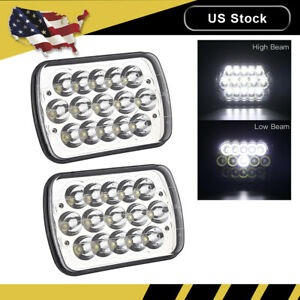 2x 45w 6 X 7 Led Headlight Replacement Lamp Drl For Jeep Cherokee Xj Trucks