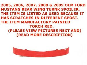 2005 2009 Ford Mustang Rear Wing Trunk Spoiler Torch Red 7r336341602aaw