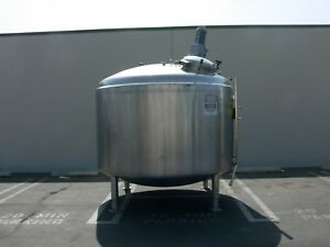 Dci 6000 Liter Stainless Steel Jacketed Reactor W Top Agitator 40 Psi 125 Psi