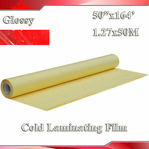 1 38x54yard 1968x50 2mil Uv Glossy Clear Vinyl Cold Laminating Film Laminator