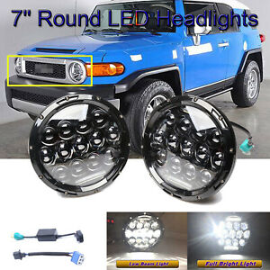7 Led Headlights For Toyota Fj Cruiser 2007 2014 H6024 Vs Halogen Replacement