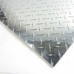 1875 Aluminum Diamond Tread 3003 H 24 Plate 11 Wide 31 5 Long Sku122971