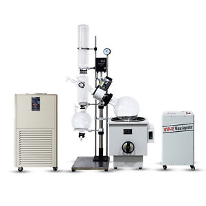 50l Industrial Rotary Evaporator Complete Turnkey W Water Vacuum Pump