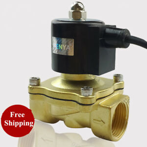 Ac220v G1 Brass Electric Solenoid Valve For Water Fountain Waterproof Ip65