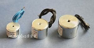 2pcs Electric Lifting Magnet Holding Electromagnet Solenoid 40mm 55lb Dc12v 250n