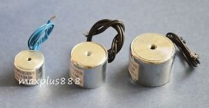 2pcs Electric Lifting Magnet Holding Electromagnet Solenoid 50mm 110lb Dc12v New