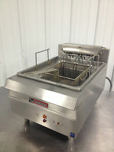 Jcp Frialator Fe 16 ss Countertop Fryer Pitco Stainless Steel Deep Fat Electric