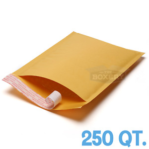 250 0 Kraft Bubble Padded Envelopes Mailers 6 5 X 10 From Theboxery