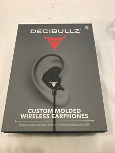 Decibullz Black Custom Molded Bluetooth Wireless Earphones