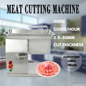 110v 250kg Output Meat Cutting Machine Meat Slicer Cutter With 1 Set Of Blade