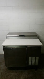 Beverage Air Pt41 Raised Rail Sandwich Pizza Prep Table 41 Tested 115 Volt