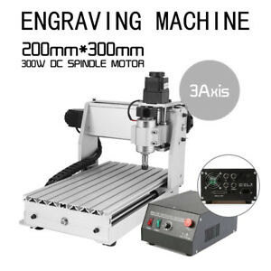 3 Axis Cnc Engraver 3d Cutter Engraving drilling milling Machine Model 3020t