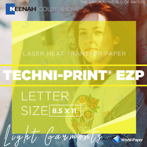 Techni print Ezp 100 Sheets Laser Heat Transfer Paper 8 5 X 11