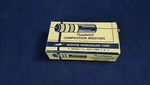 Lot 198 Vintage Nos Insulated Composition Resistor 56k 1 10 Watt 10 Tol
