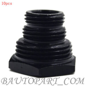 10pcs 1 2 28 To 3 4 16 13 16 16 3 4 Unf Oil Filter Threaded Adapter Black