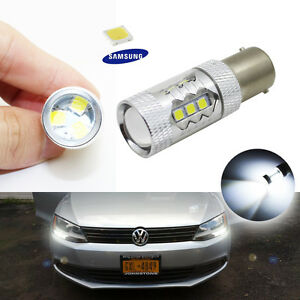 2pc Canbus White Samsung Led Bulb Fit Volkswagen Jetta Mk6 Daytime Running Light