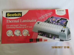 3m Scotch Thermal Laminator Tl901 Use With Up To 9 Wide Pouches