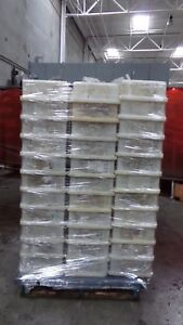 Industrial Heavy Duty Plastic Tote Bins Stackable lot Of 99 Units Lot 9