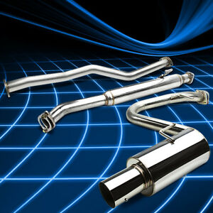 4 Muffler Tip Stainless Steel Catback Exhaust System For 05 10 Scion Tc 2 4l L4