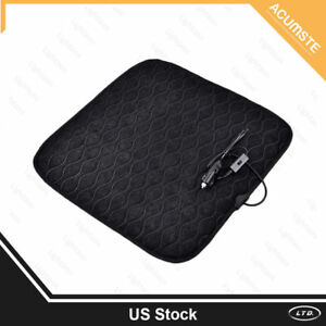 Car Heated Seat Cushion Cover Heating Heater Warmer Pad Winter 12v Universal