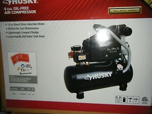 Husky 4 Gal Portable Electric powered Air Compressor 6843