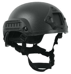 Airsoft Helmet ABS Plastic Base Jump Tactical Black Rothco 1894
