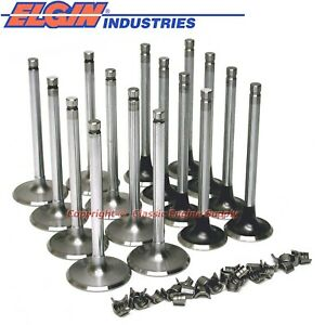 New 2 065 Intake 1 72 Exhaust Valve Set Chevy Bb 396 402 427 454