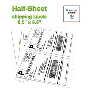 2 Labels Per Sheet 8 1 2 X 5 1 2 Per Label Premium Quality Made In The Usa