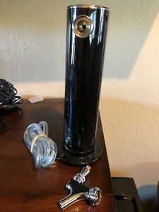 Single Tap Draft Beer 2 Tower Black Bar Pub Kegerator Keg Faucet