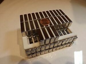 100 Brand New Neodymium Magnets 1 X 1 2 X 1 4 Very Powerful Block Magnets