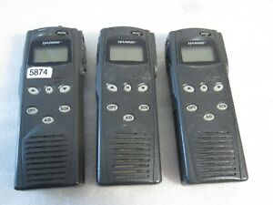 Lot Of 3 Harris M a com P5100 Handheld 2 way Radio Mahm s8dxx S8dxx Made Japan