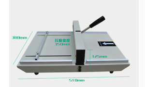 A3 Paper Folding Machine 350mm Manual Paper Marking Press M