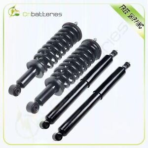 For 2000 2006 Toyota Tundra 2 Front Loaded Complete Strut 2 Rear Gas Shocks
