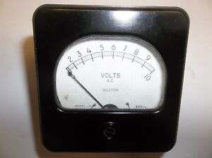 Vintage Weston Ac Volt Meter 0 10 Model 476