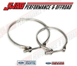 08 10 Ford 6 4 6 4l Powerstroke Diesel Oem Turbocharger Twin Turbo Clamp Kit