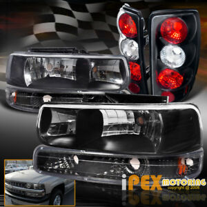 Black Combo 2000 2006 Chevy Suburban Tahoe Headlights Signals Tail Light