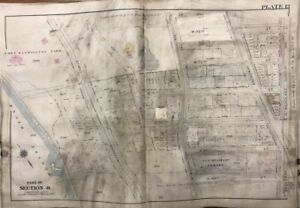 Original 1905 G W Bromley Manhattan Ny 22nd Regiment Armory Plat Atlas Map