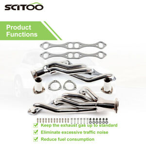 Stainless Clipster Header For Small Block Chevy 5 0 6 0 V8 Exhaust manifold