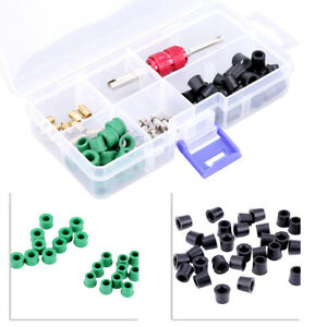 71pcs Box Air Conditioning Valve Core A C Refrigeration Tire Core Remover Tool