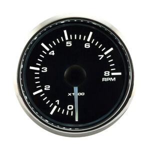 Motor Meter Racing Universal Tachometer For Gasoline 2 8000 Rpm White Amber