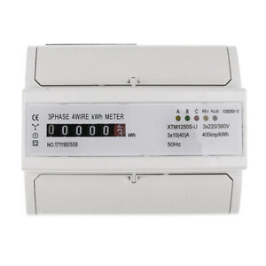 Watt Hour Meter Energy Electricity Meter 40a Remote Control 3 Phase 4 Wire