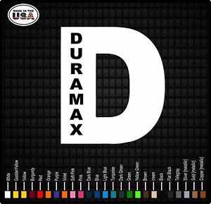 Duramax D Truck Window Decal Stickers Diesel Truck Decals Back Glass Decals
