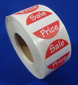 Self adhesive Sales Price Labels 1 Stickers Tags Retail Store Supplies