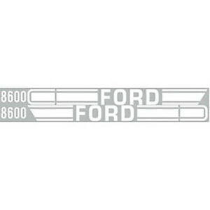 Ford 8600 Tractor Hood Decal Set Kit