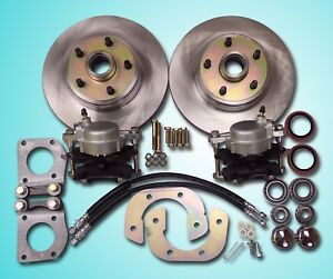 1967 1970 Mustang Front Disc Brake Conversion Fits V 8 Drum Brake Spindle 5 Lug