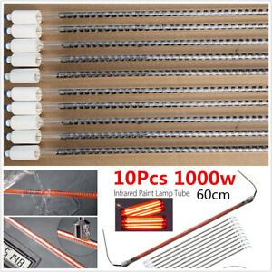 10pcs 1000w Spray Baking Booth Ir Infrared Paint Curing Lamp Heating Tubes 60cm