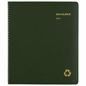 At a glance 2018 Monthly Planner Recycled January 2019 8 7 8 X 11 Green Office