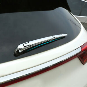 Chrome Rear Trunk Window Wiper Arm Blade Cover Trim Overlay For Kia Sportage 17