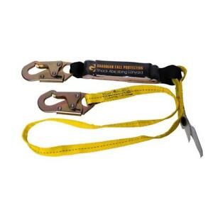 Safety Harness Single leg Shock Absorbing Lanyard Protective Gear Roofing Tool