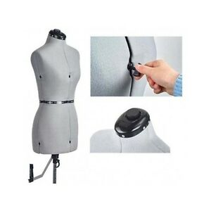 Seamstress Dress Mannequin Adjustable Form Dressform Small Wardrobe Sewing Nylon